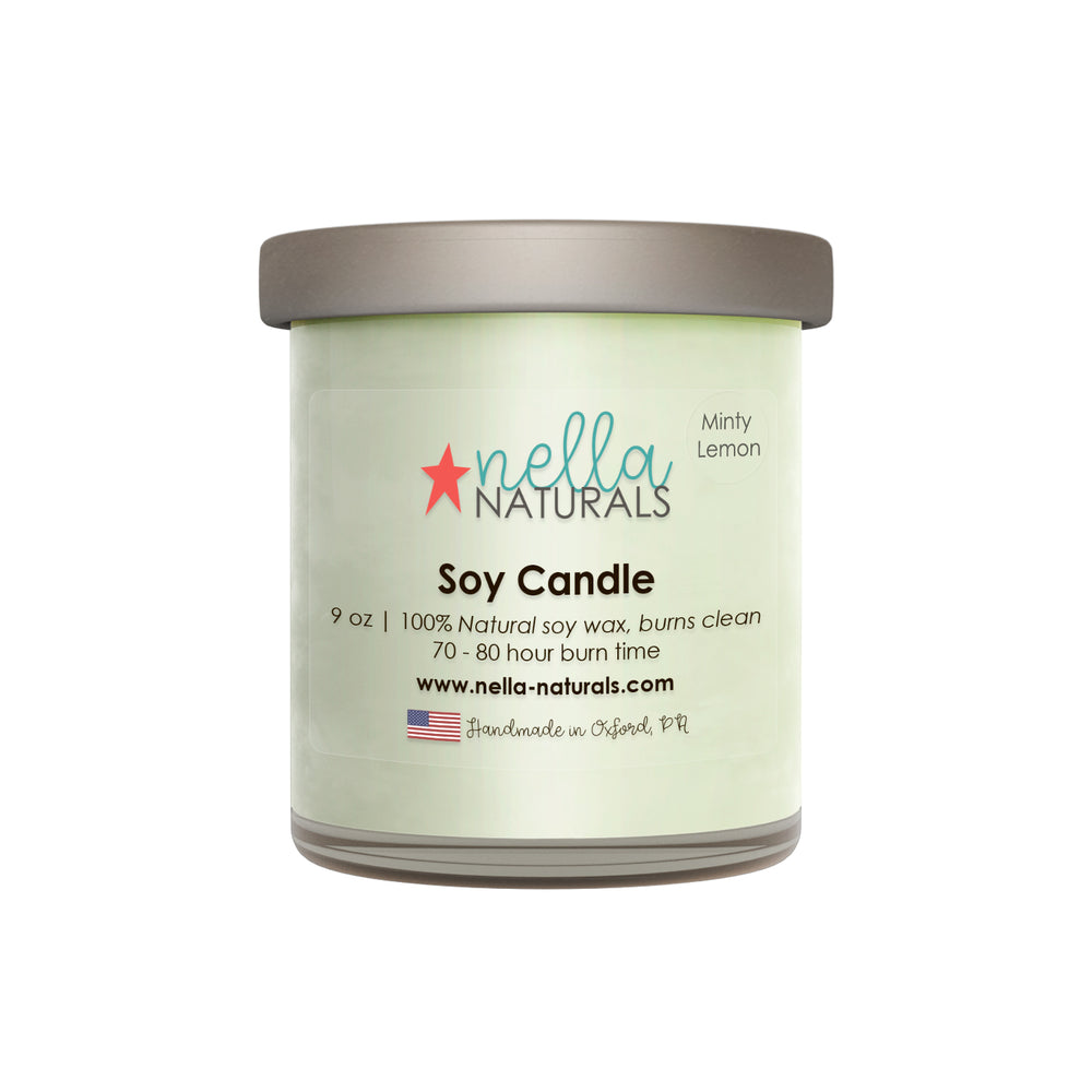 Minty Lemon Soy Wax Candle