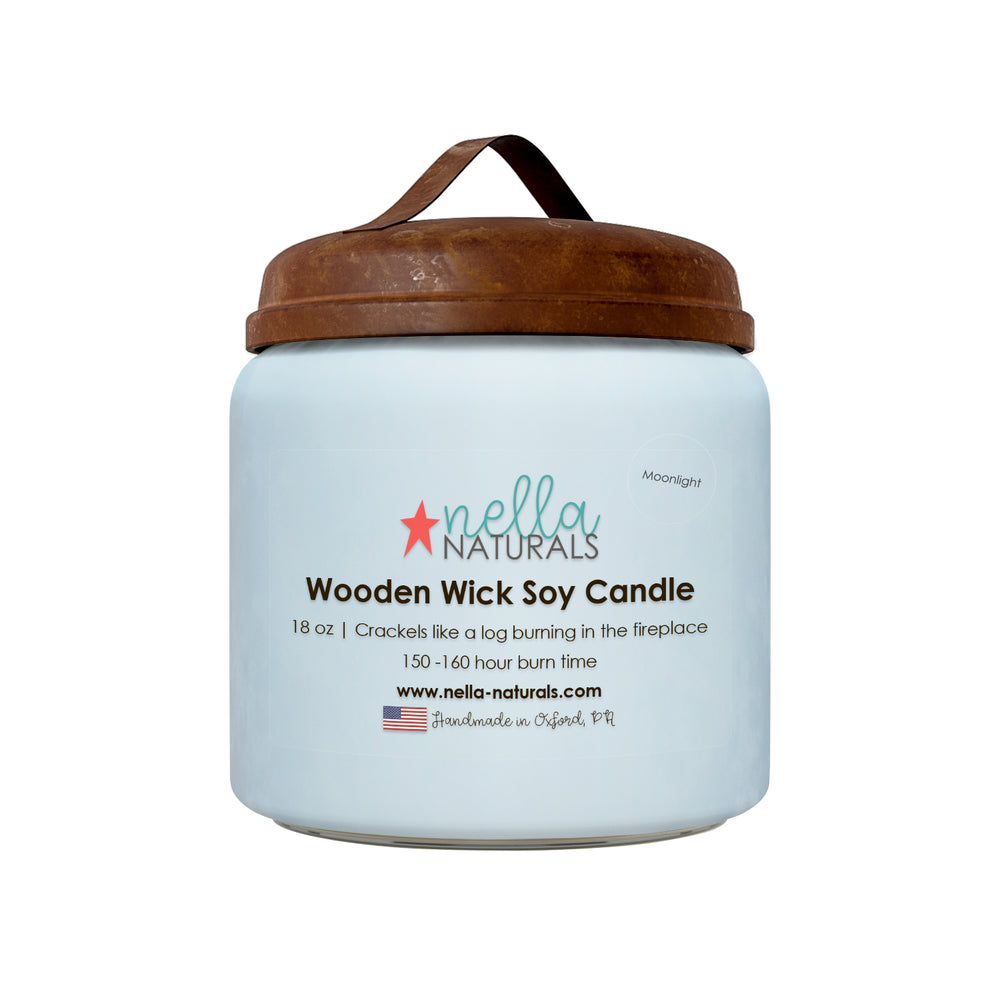 18oz Moonlight Wooden Wick Candle