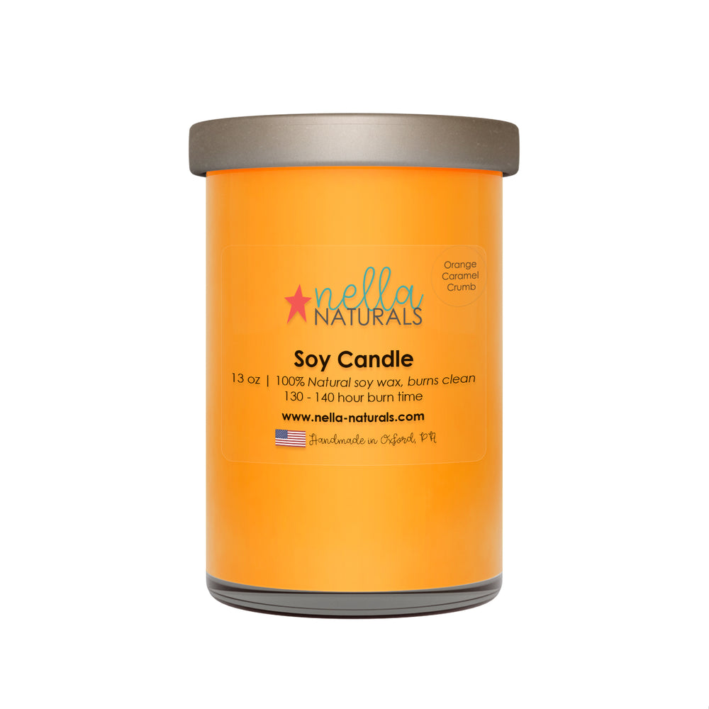 13oz Orange Caramel Crumb Soy Wax Candle
