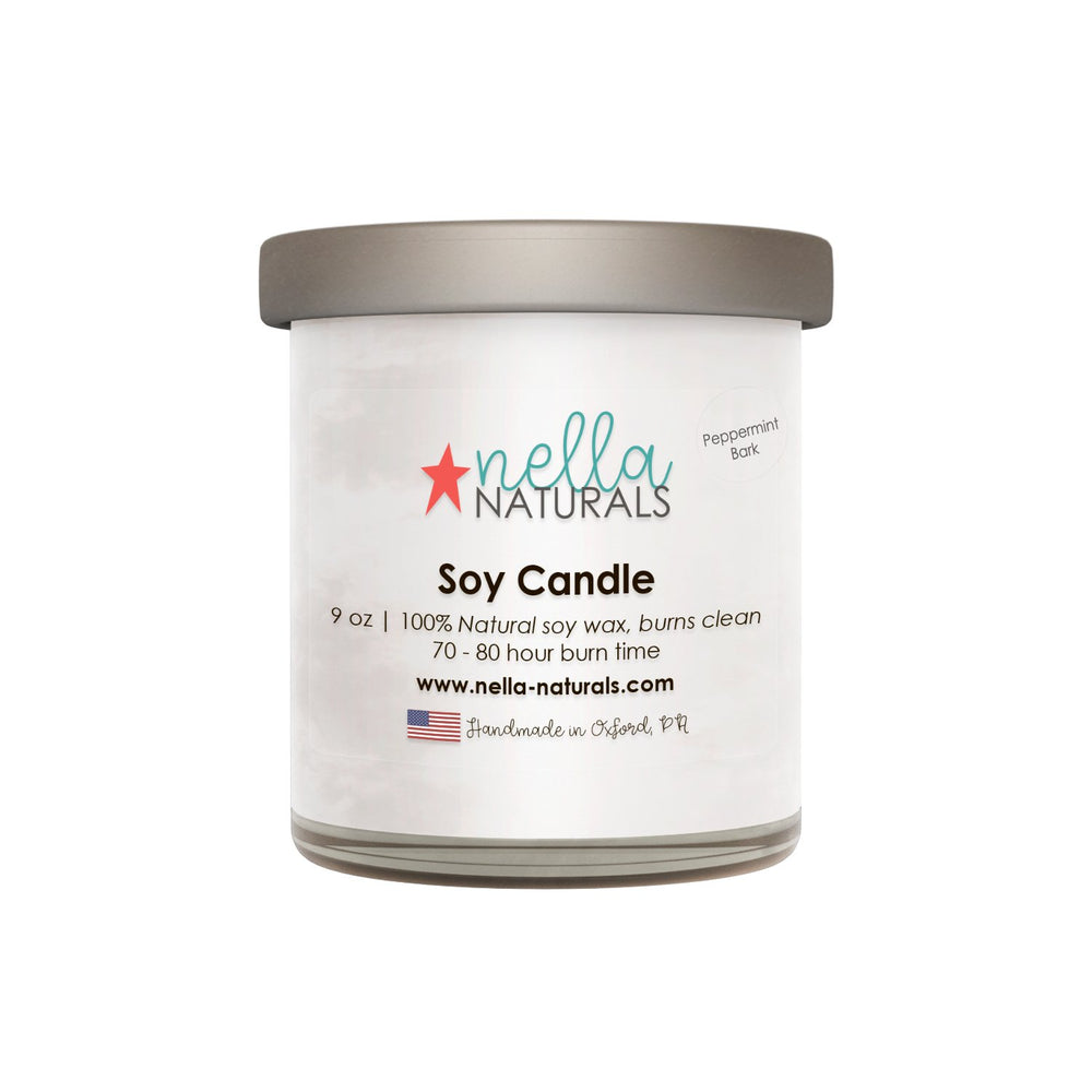 Peppermint Bark Soy Wax Candle