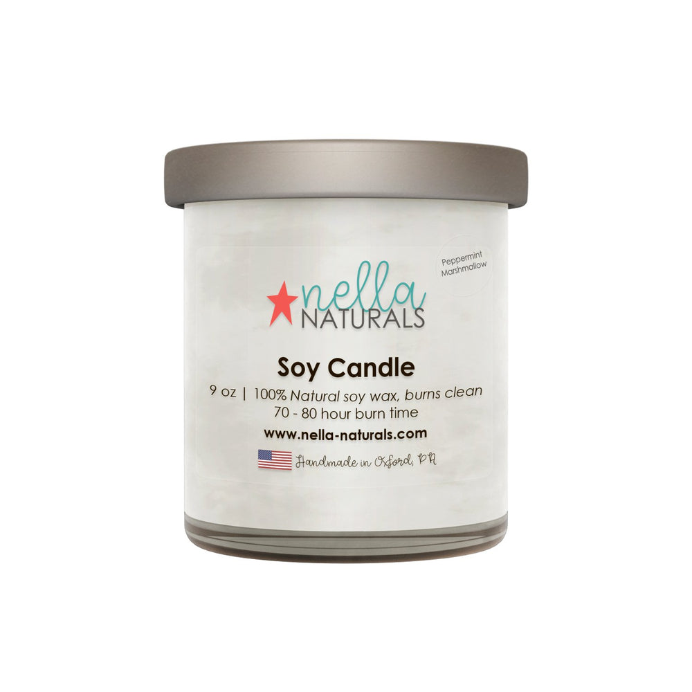 Peppermint Marshmello Soy Wax Candle