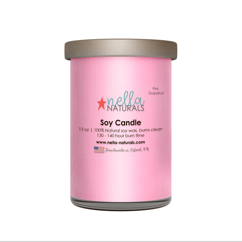 13oz Pink Grapefruit Soy Wax Candle