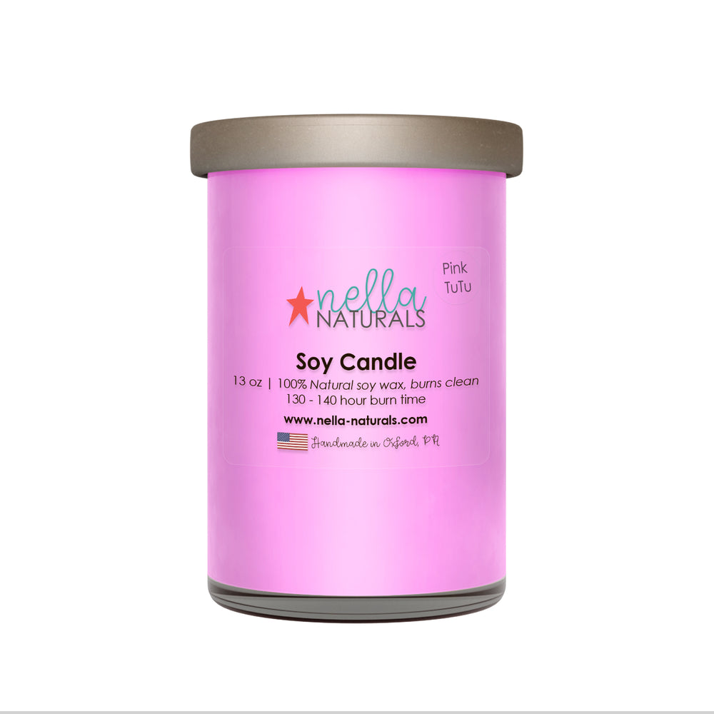 13oz Pink TuTu Soy Wax Candle