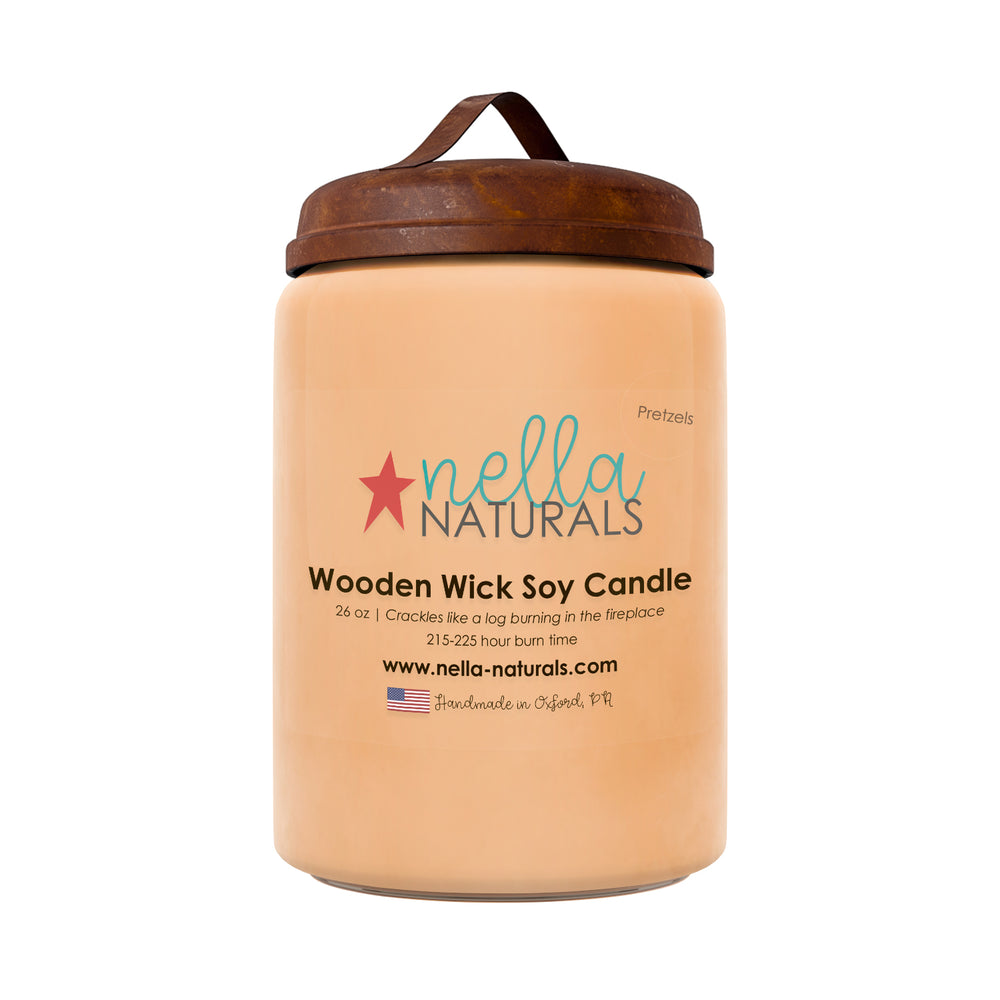 26oz Pretzels Wooden Wick Candle
