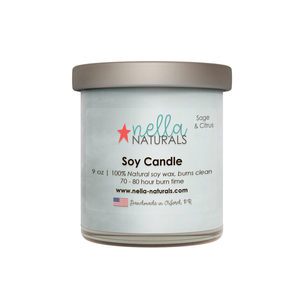 9oz Sage & Citrus Soy Wax Candle