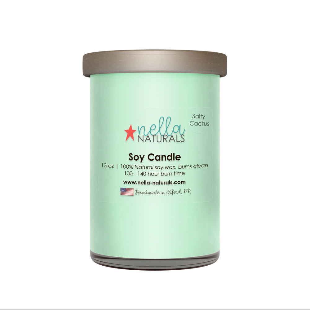 13oz Salty Cactus Soy Wax Candle