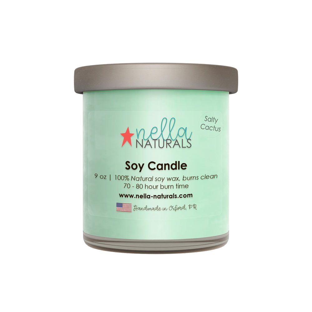 9oz Salty Cactus Soy Wax Candle
