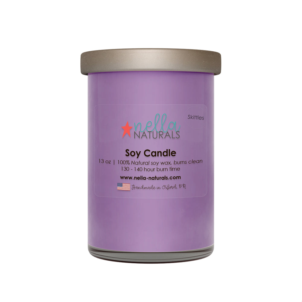 13oz Skittles Soy Wax Candle