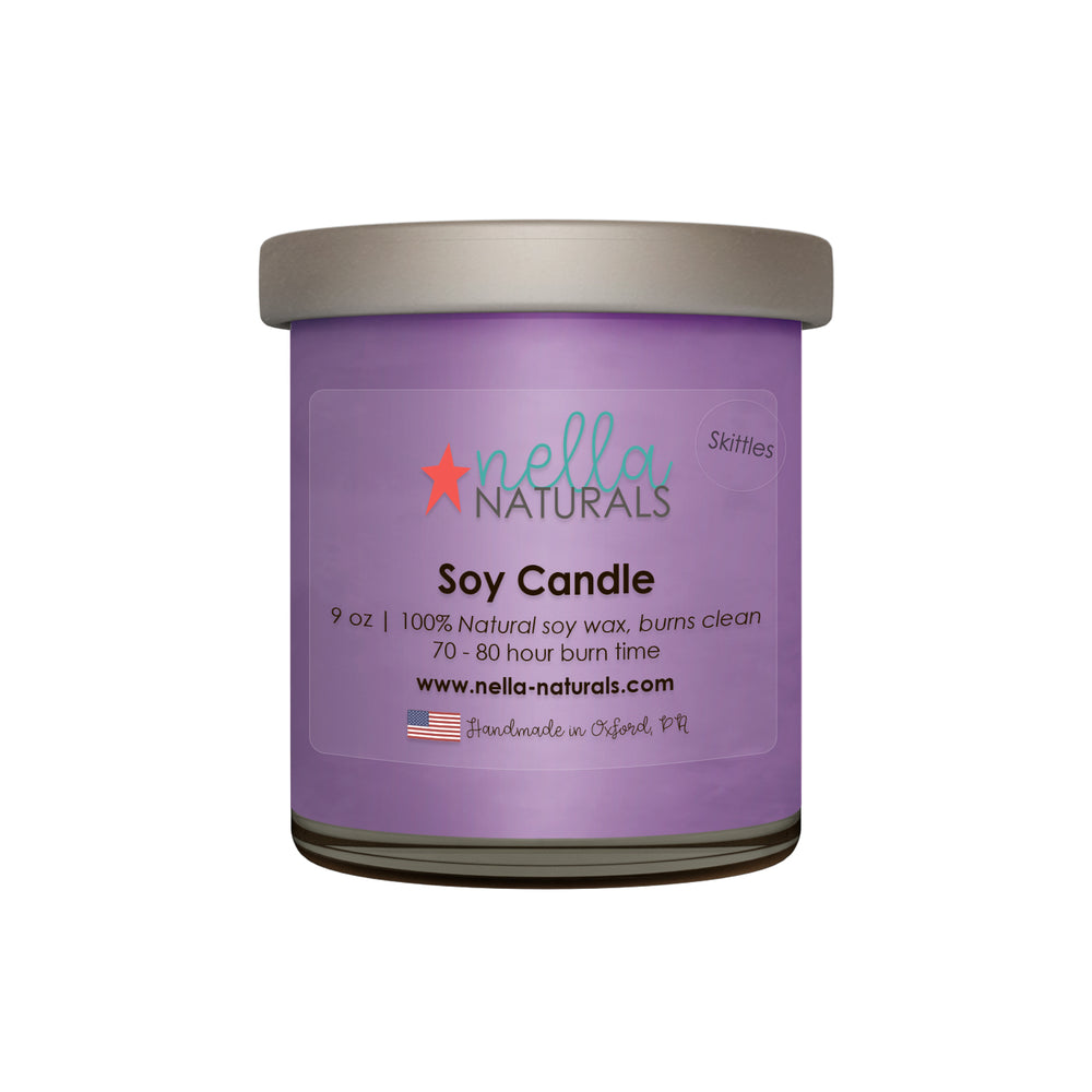 9oz Skittles Soy Wax Candle