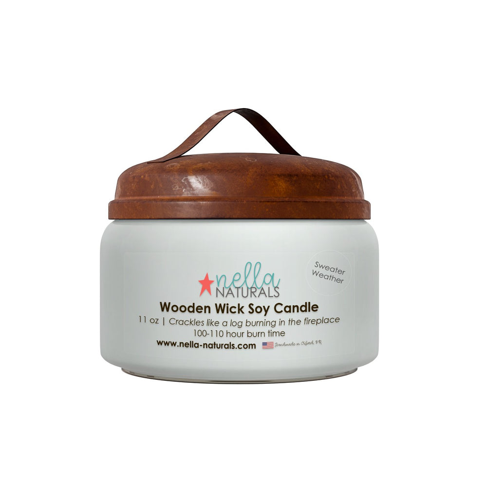 Sweater Weather Wooden Wick Candle
