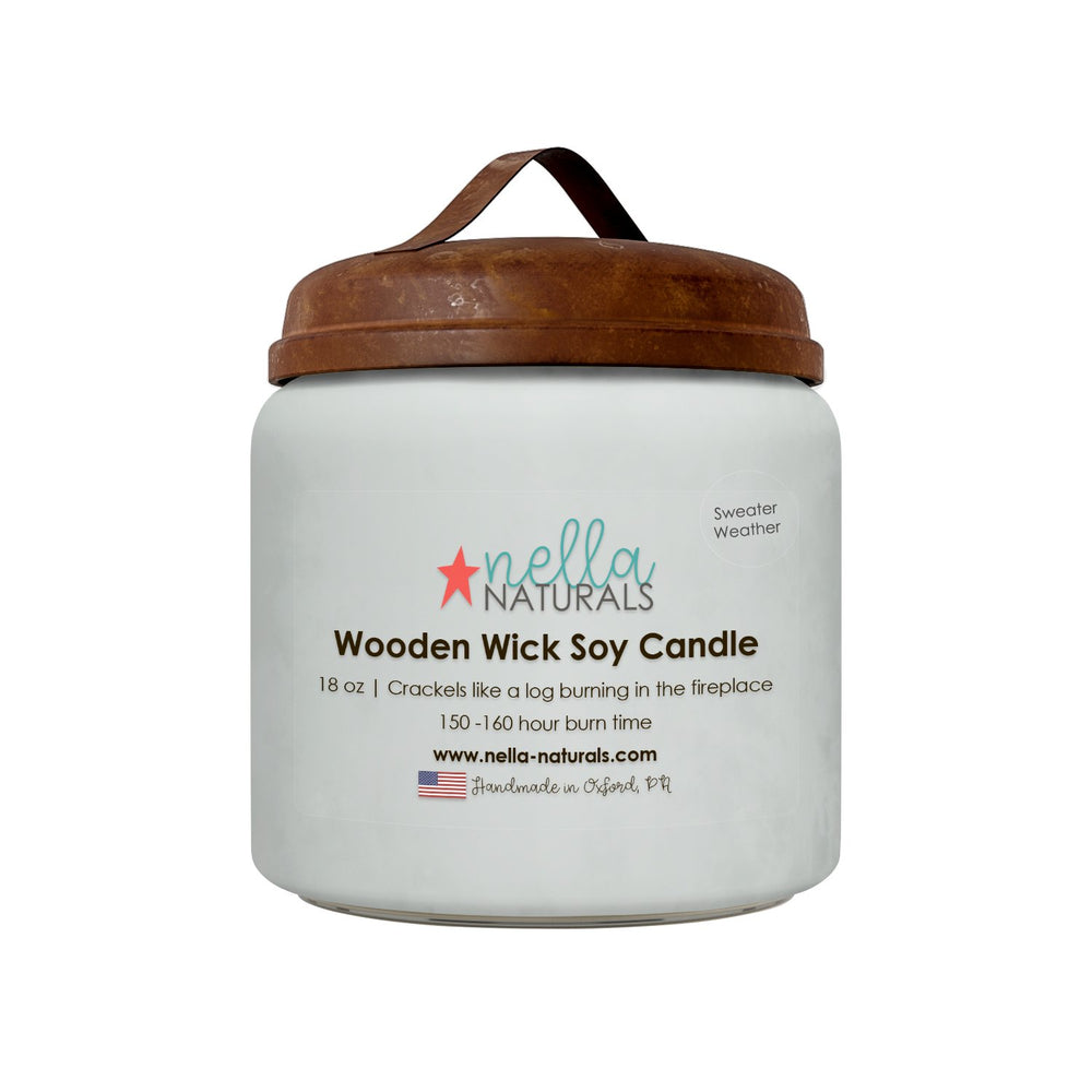 18oz Sweater Weather Wooden Wick Candle
