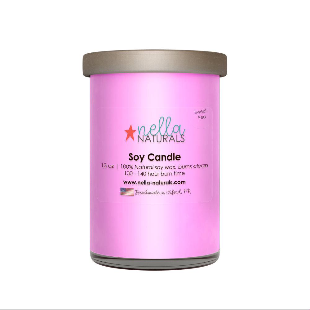 13oz Sweet Pea Soy Wax Candle