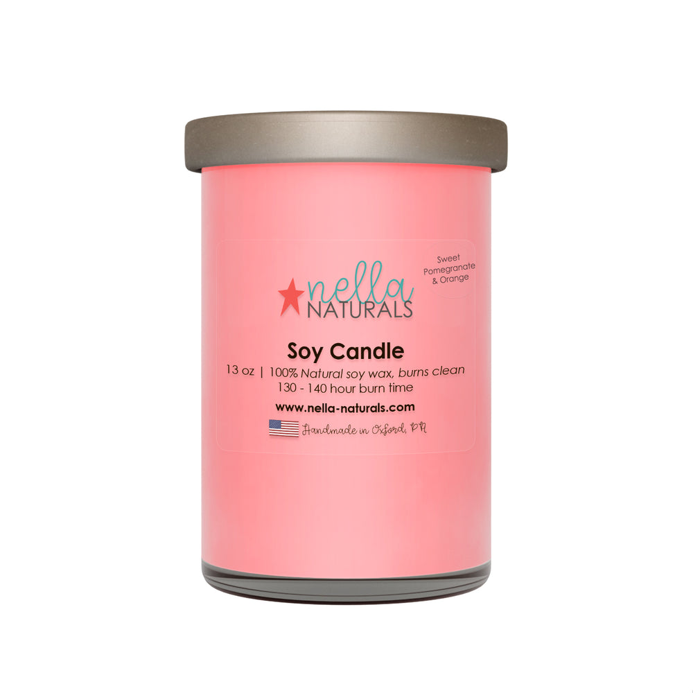 13oz Sweet Pomegranate & Orange Soy Wax Candle