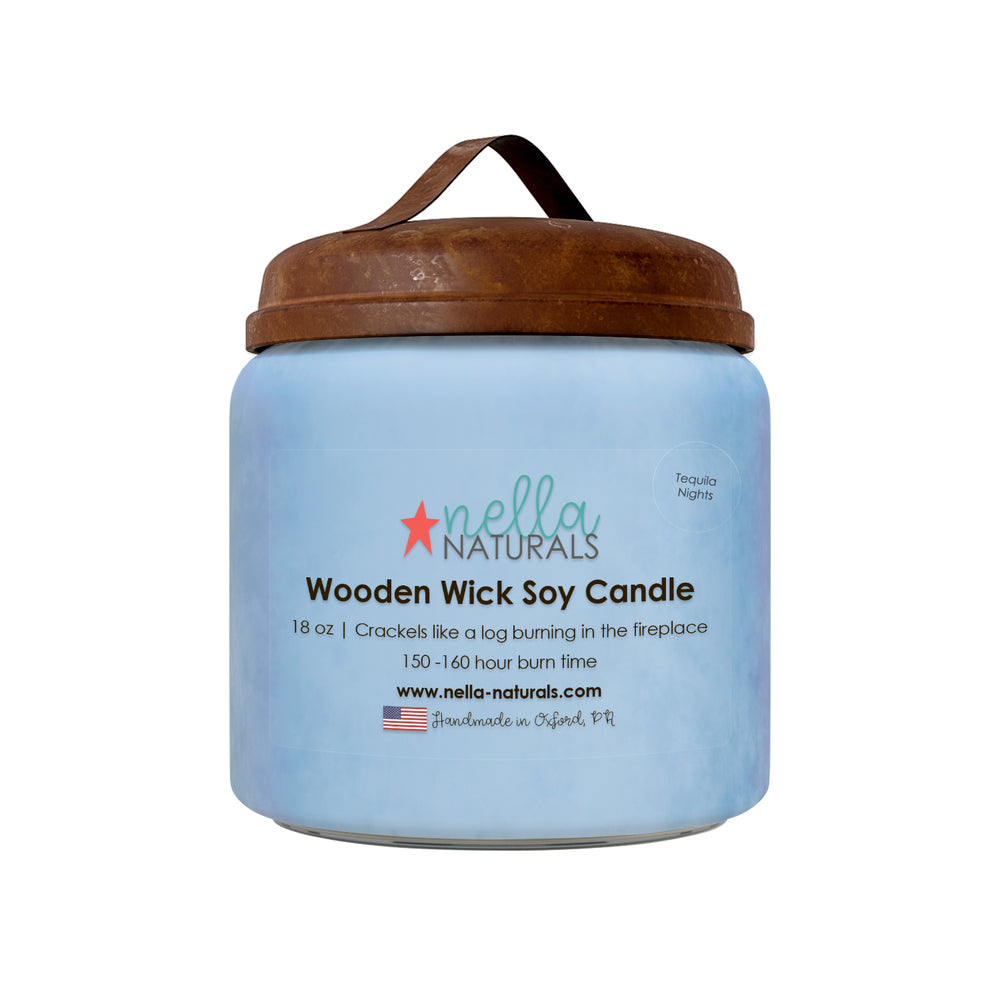 18oz Tequila Nights Wooden Wick Candle