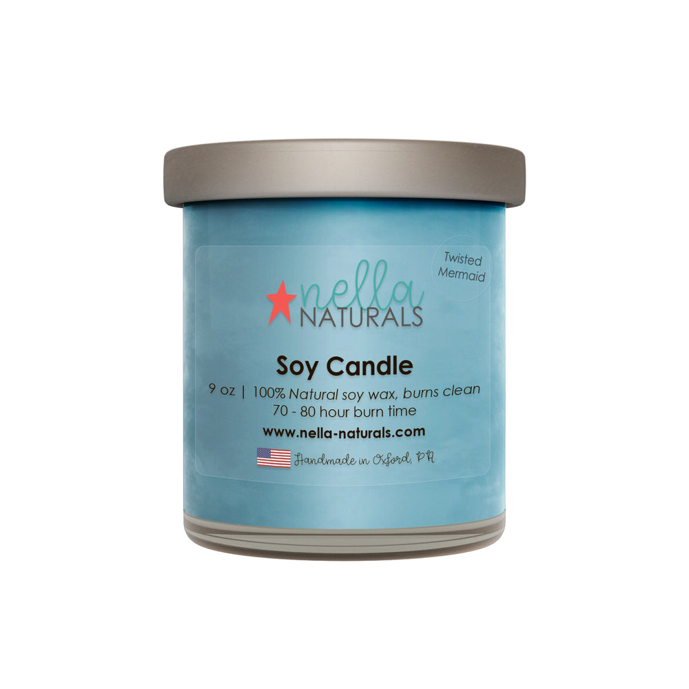 9oz Twisted Mermaid Soy Wax Candle