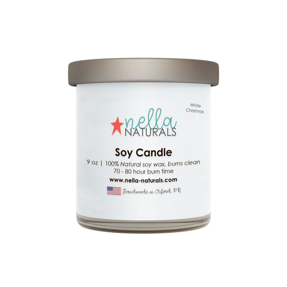 White Christmas Soy Wax Candle