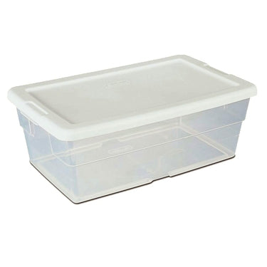 Sterilite 6 Quart Plastic Shoe Box: 6-qt Clear Shoebox