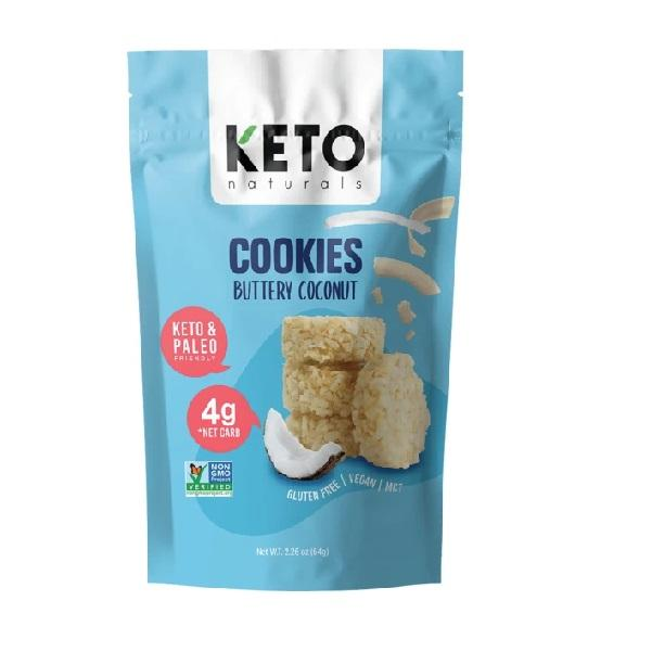 Keto Naturals Cookies Buttery Coconut 64g