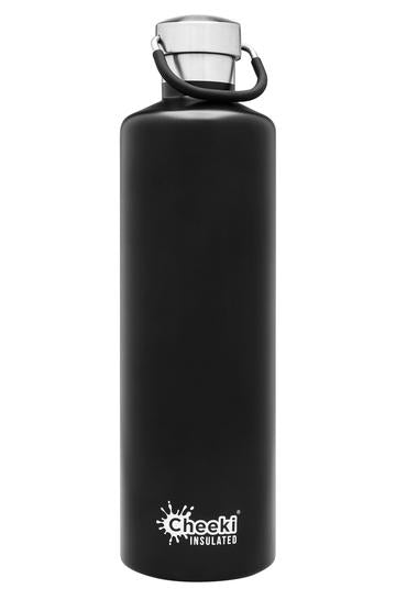 CHEEKI 1L s/steel Insulated Bottle Matte Black