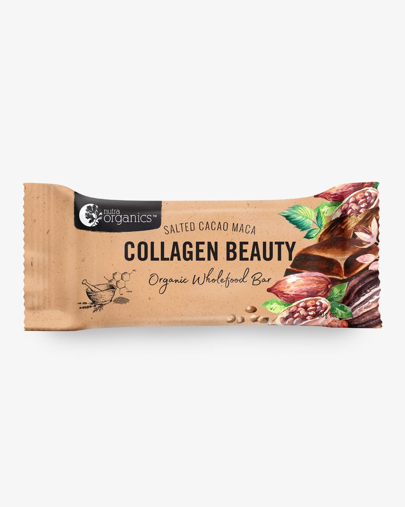 Nutra Organics Collagen Beauty Bar - Salted Cacao Maca