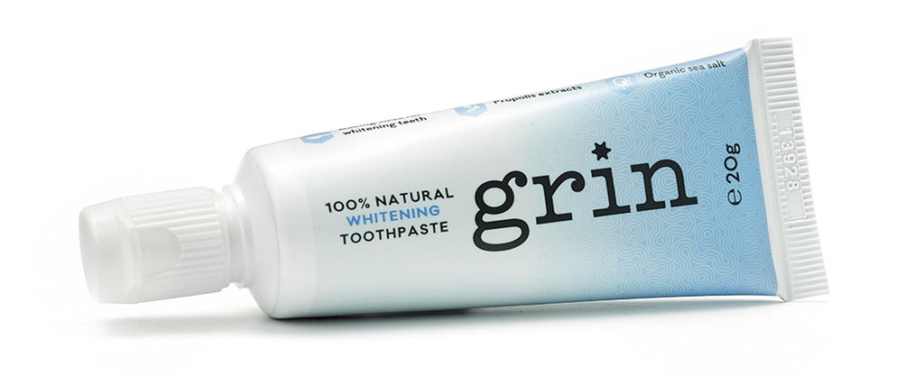 GRIN Natural Whitening Travel Toothpaste 20g