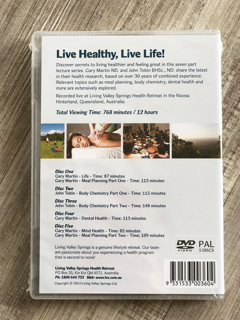 Living Valley Health Lectures DVD