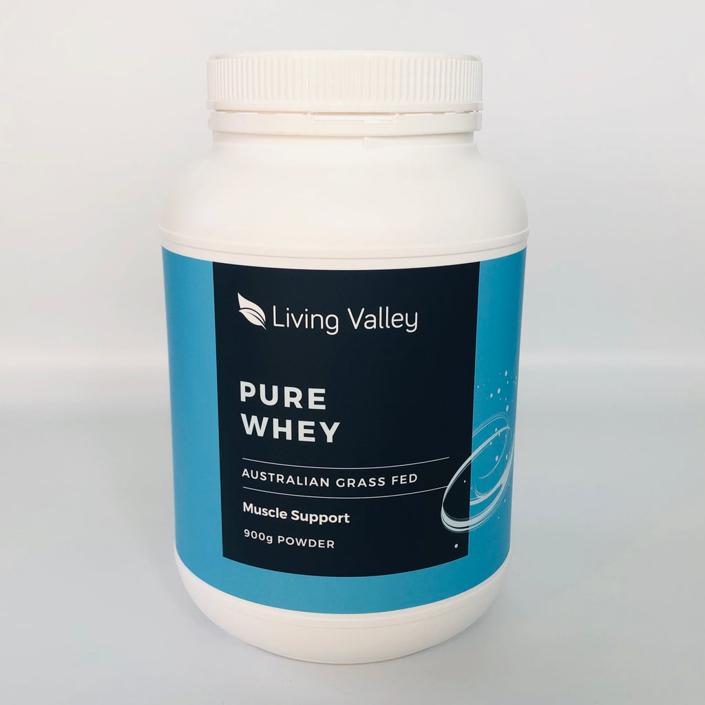 Living Valley 100% Pure Whey Protein Concentrate 900g