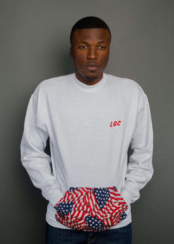 USA Pocket Pouch Crewneck