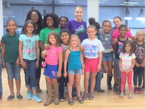 Brittanie Braxton at Hardee YMCA teaches Shazzy Fitness kids and children dance fitness