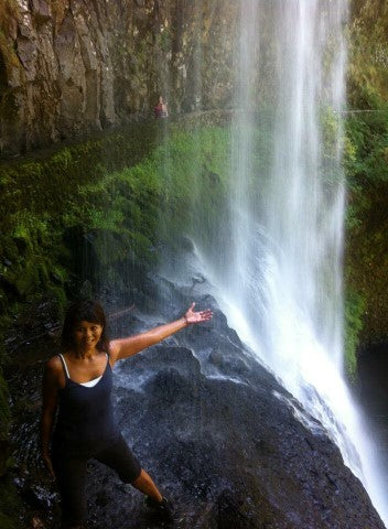 Shazzy instructor Flora waterfall Hawaii