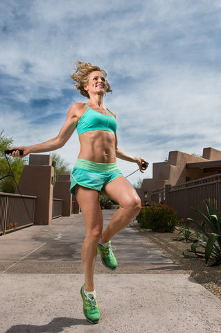 our guest blogger Heather Denniston jumping rope