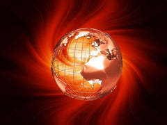 World with Holy Spirit Fire