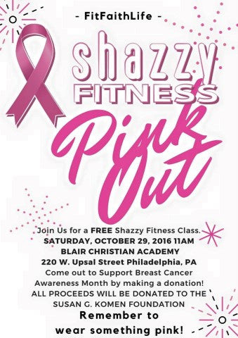Shazzy Pinkout flyer