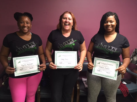 Clarksville TN Shazzy Fitness Instructor Certification Class Training September 2015