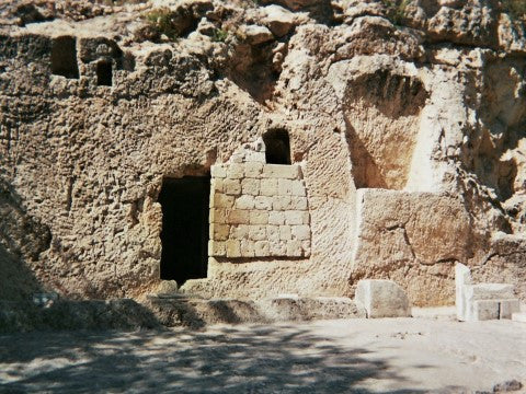 empty tomb of the Resurrection