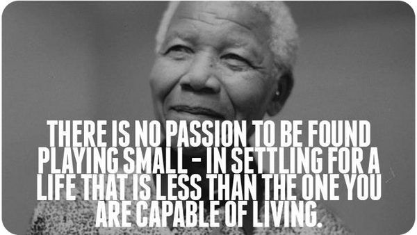 Picture of Nelson Mandela with quote