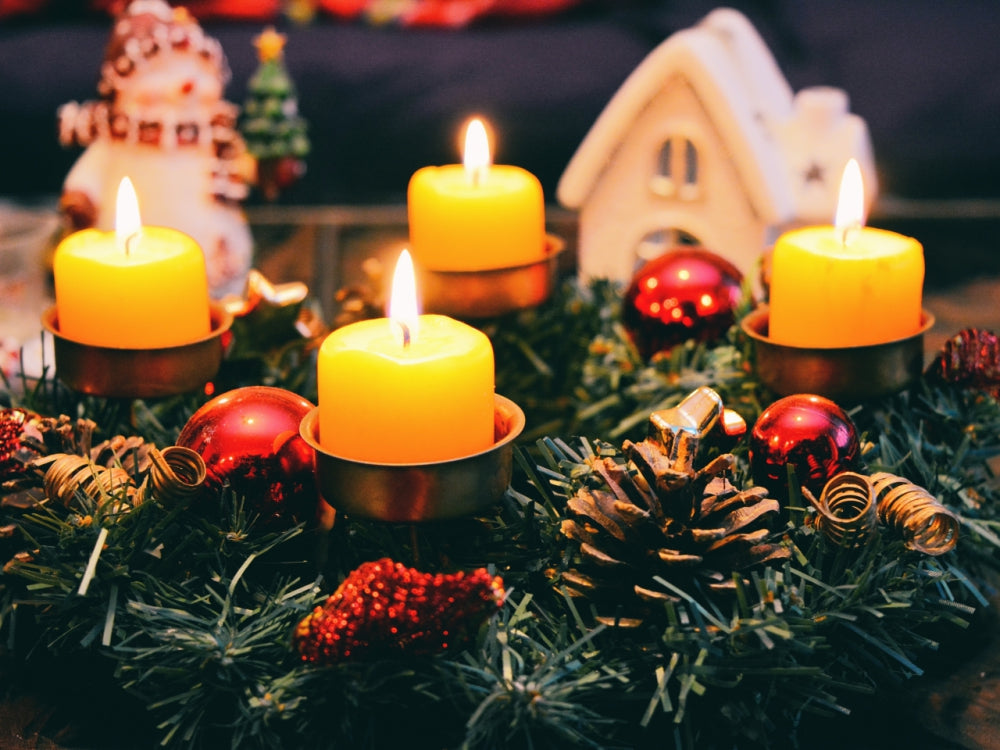 Christmas Advent wreath and candles