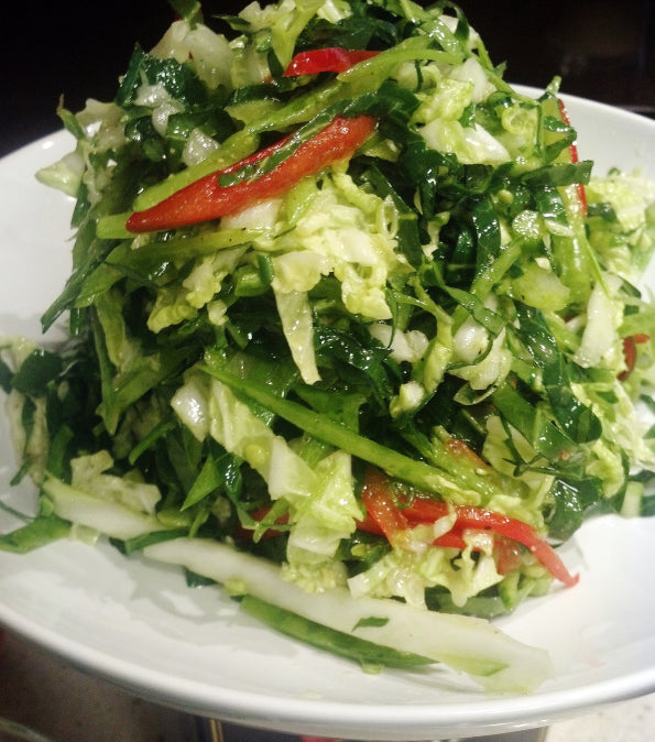 sweet savant collard green slaw - daniel fast recipe