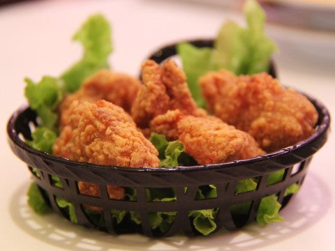 fried chicken tenders salad small portion
