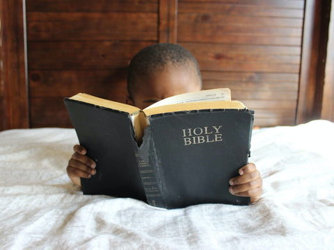 little one reading the bible