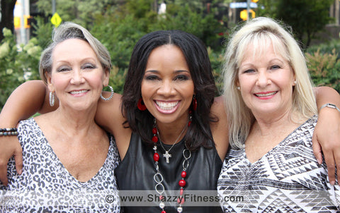 shazzy fitness senior dance team members - susan and kristy and dinah
