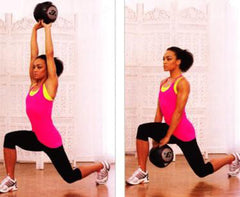 A women doing lunges