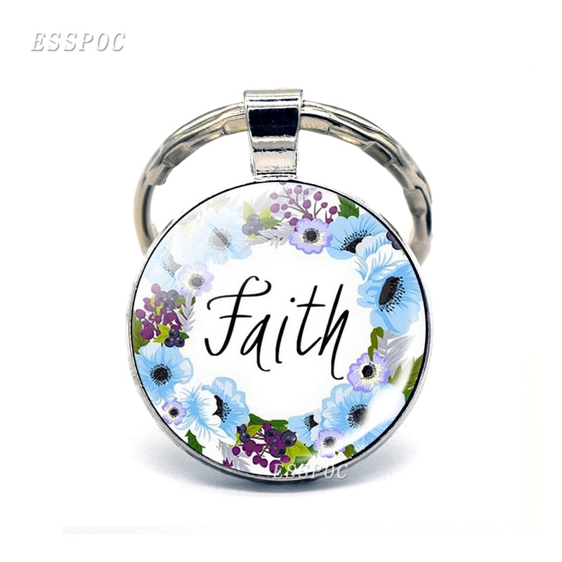 God Is Within Her. She Will Not Fall (psalm 46:5) Bible Quote Faith Keychain Keyring Bible Verse key chain Christian Party Gift