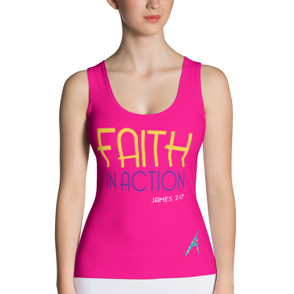 Faith in Action - Pink Tank Top