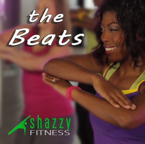 the beats is a workout music mix of the most popular Christian hip-hop songs from the #1 selling Christian dance workout video series, Shazzy Fitness