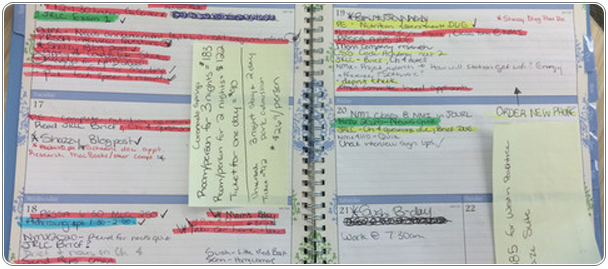 Picture of a agenda planner