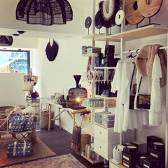 Belgian shop interior with items supplied by Uma Cantik