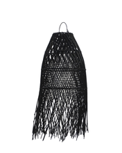Load image into Gallery viewer, Wing Tail Rattan Lamp Shade Black