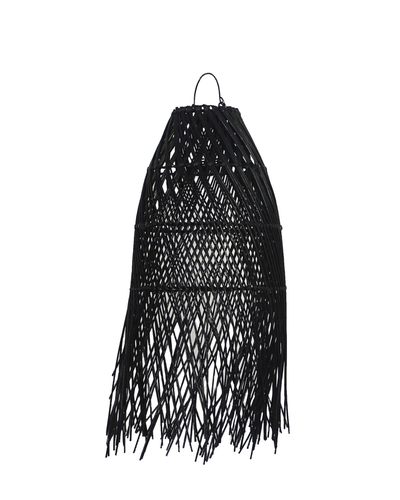 Wing Tail Rattan Lamp Shade Black