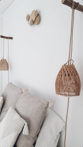 Ayana Rattan Lampshade Natural Cross - S